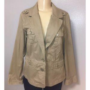 Sonoma Utility Jacket Khaki Cotton Blend